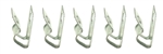 1968 - 1972 Chevelle Fuel Line Clips (3/8 x 1/4), 5 Piece Set