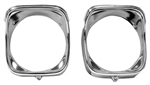 1968 Chevelle Headlight Bezels, Inner & Outer, LH