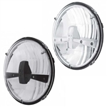 "Chevelle Nova Custom Headlight Assembly High Power LED, 7"" SOLD EACH, Choose Black or Chrome Headlamp Housings"