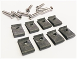 1968 - 1969 Chevelle Headlamp Bezel Screws and Clips (Does 4 Bezels), Set