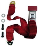 1968 - 1972 Nova Seat Belt, Lap 2 pt., Stainless Buckle and GM Mark of Excellence Button, Choice of Belt Color, Each