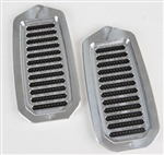 1970 - 1972 Chevelle Door Jamb Air Vent Louvers, Billet Aluminum, Choice of Finish, Pair