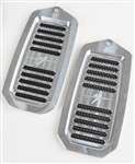 1970 - 1972 Chevelle Door Jamb Air Vent Louvers, Billet Aluminum, Solid Center Bar, Choice of Finish, Pair