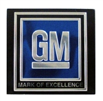 "Seat Belt Buckle Push Button ""GM MARK OF EXCELLENCE"" Insert Decal - Each"