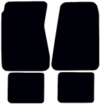 1968 - 1972 Chevelle Carpeted Floor Mats Set, Front and Rear