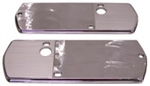 1968 Chevelle Chrome Arm Rest Base Trim Plates, Pair