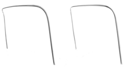 1968 - 1972 Molded Chevelle Bucket Seat Chrome Piping Trim Molding, Original Factory Style
