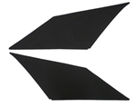 1966 - 1967 Chevelle Headliner Sail Panel Boards, Two Door Hardtop, Not Covered, Pair