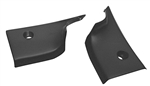 1968 - 1972 Chevelle Interior Rear Window Package Tray, Lower Corner Trims, Pair