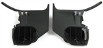 1968 - 1972 Chevelle Kick Panel Set without Air Conditioning, Black, Pair