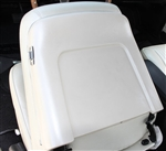 1968 Chevelle Bucket Seat Back Trim Panels, Pair Pearl White