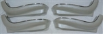 1969 - 1972 Chevelle Bucket Seat Lower Trim Panels, 4 Pieces Bright White
