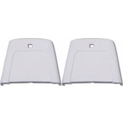 1969 - 1972 Chevelle Bucket Seat Back Trim Panels, Pair Bright White