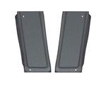 1975 - 1979 Nova Quarter Window Post Moldings, Black Plastic Pair