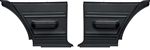 1975 - 1979 Nova Rear Side Panels with Arm Rest, Black Plastic, Pair