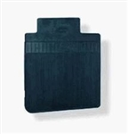 1968 - 1972 Nova Floor Mats Set, Front and Rear, Rubber with Grippers, Dark Blue with Bowtie, OE Style