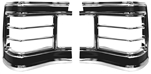 1967 Chevelle Tail Light Bezels Set, Pair