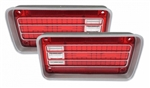 1970 Chevelle Tail Light Lenses, Pair