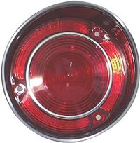 1971 Chevelle Tail Light Lens, With inner Stainless Trim, Right Hand