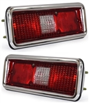 1971 - 1972 Complete Nova Tail Light Housing and Lens Assembly, PAIR