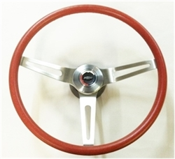 1966 - 1972 Chevelle and Nova RED Comfort Grip Steering Wheel Kit