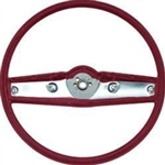 1969 - 1970 Nova Steering Wheel, Standard, Red, 3939733