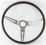 1967 - 1968 Chevelle Walnut Woodgrain Steering Wheel Kit, Original GM Used
