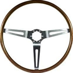 1967 - 1968 Chevelle / Nova Steering Wheel, Walnut Woodgrain, 9746195