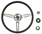 1966 - 1972 Chevelle Steering Wheel Kit, Comfort Grip, Black, 14 Inch