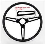 1969 - 1970 Nova Custom Black Spoke Comfort Grip Steering Wheel