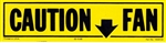Caution Fan Decal, Yellow and Black