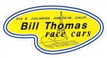 DECAL, BILL THOMAS RACE CARS, 7.5 INCH WIDE