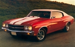 1970 - 1972 Chevelle Stencil Stripe Kit, Super Sport, Hood and Trunk Deck Lid