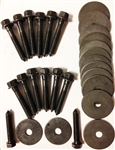 1966 - 1967 Chevelle Convertible Body Mount Bushing Hardware Set: Bolts, Nuts and Washers, OE Style Correct