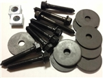 1968 - 1972 Chevelle Coupe Body Mount Bushing Hardware Set: Bolts, Nuts and Washers, OE Style Correct
