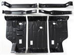 1968 - 1972 Chevelle Trunk Floor Panel Kit 7 Piece Set