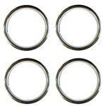 15 X 6 Wheel Trim Rings, Rally Wheel Style, Set of 4