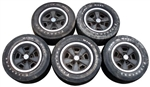 1971 - 1972 Chevelle Wheels Set, 5-Spoke, 5 Wheels, GM Original Used