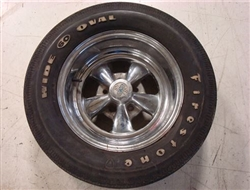 Old School Cragar Wheel and Firestone F60 15 Wide Oval Tire