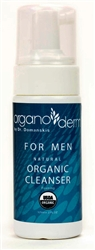 Organoderm for MEN Fresh Foaming 95%+ certified Organic Cleanser-4oz