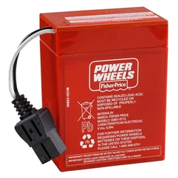 Power Wheels 6V Red Battery