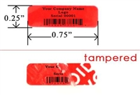 Customized Print Red Tamper Evident Label, Customized Print Red Tamper Evident Sticker, Customized Print Red Tamper Evident Seal,