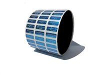 Blue Customized Tamper Evident Holographic, Blue Custom Print Holographic, Blue Customized Tamper Proof Holographic