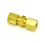 Compression union brass 5mm to 5mm tube OD 20025 10601  F000222