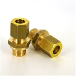 Straight Compression 8mm  X M12x1.25- Brass