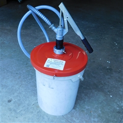 "hand operated manual filler pump fits 5 gallon pail for EP0 automated lubrication systems pumps with 1/4""ISOB quck disconnect"