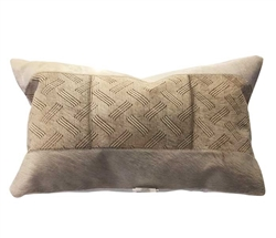 "Tracery Modern Leather Pillow 14"" x 20"""