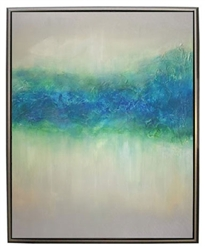 Neptune  Modern Art  with Silver Floating Frame available at Modern Home 2 Go