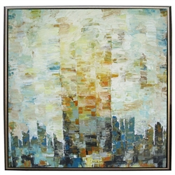 Chelsea Square  Modern Art  with Silver Floating Frame available at Modern Home 2 Go