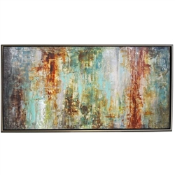 Big Sur  Modern Art  with Silver Floating Frame available